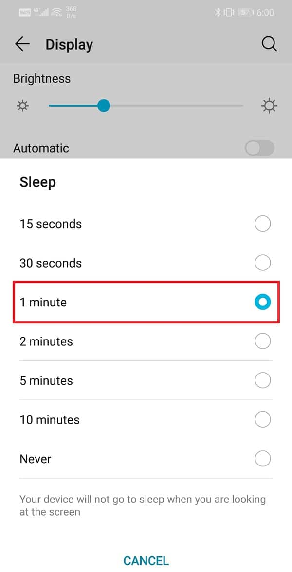 Select a lower time duration option