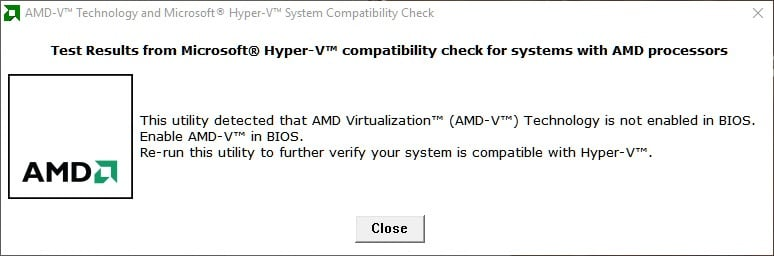 The system is compatible with Hyper-V