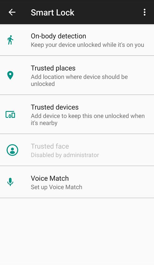 Unlock Android phone using Smart Lock