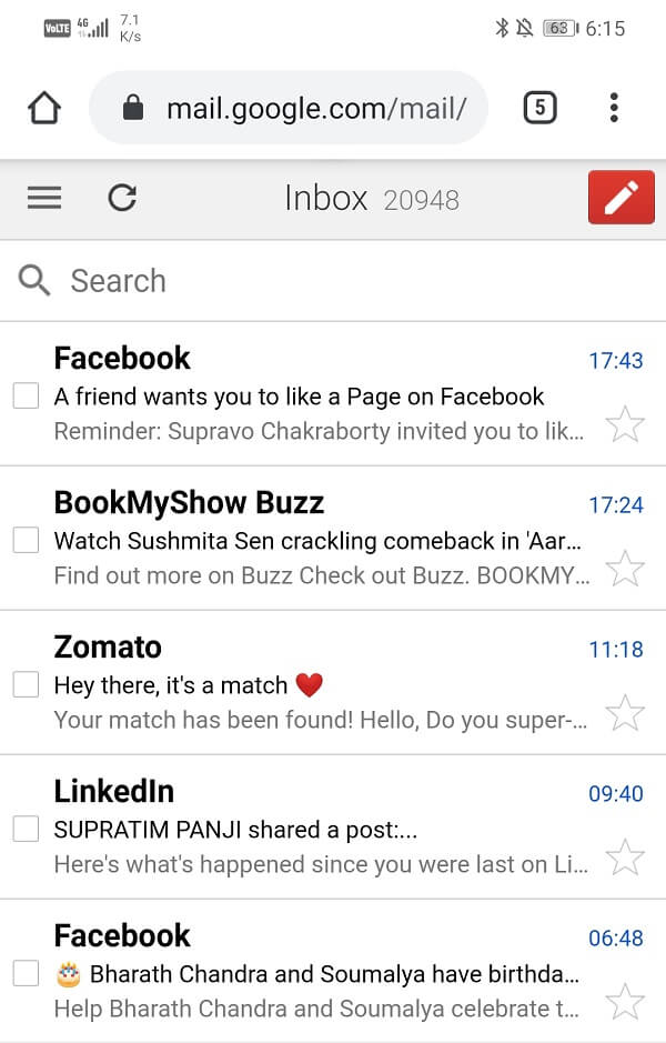 It will directly open Gmail's inbox   Fix Gmail not receiving emails on Android