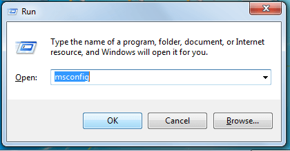 """Open Run command and type in there """"msconfig"""""""