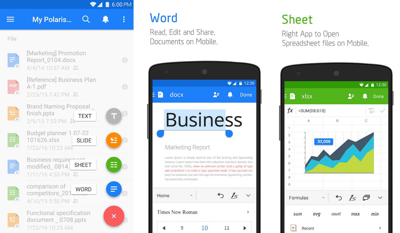 POLARIS OFFICE + PDF | Best Office Apps for Android to Boost Productivity