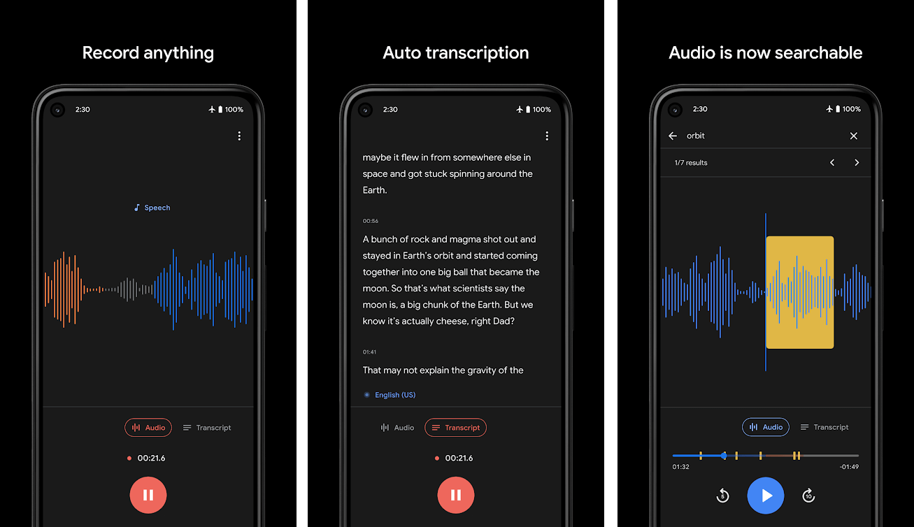 Android Stock Audio Recorder