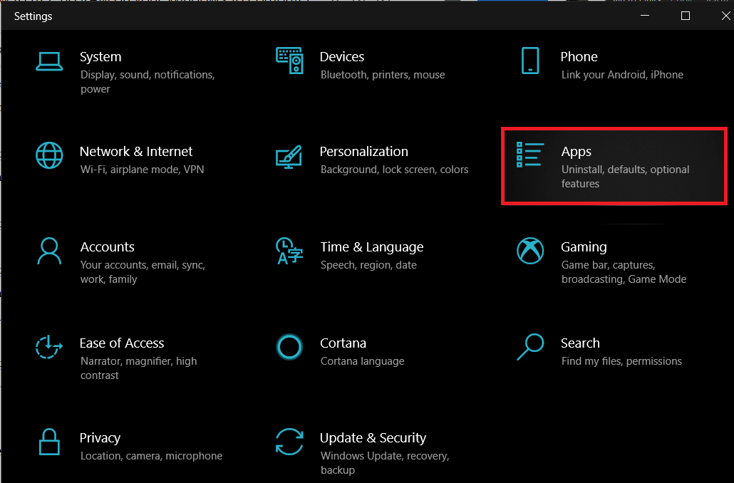 Click on Apps