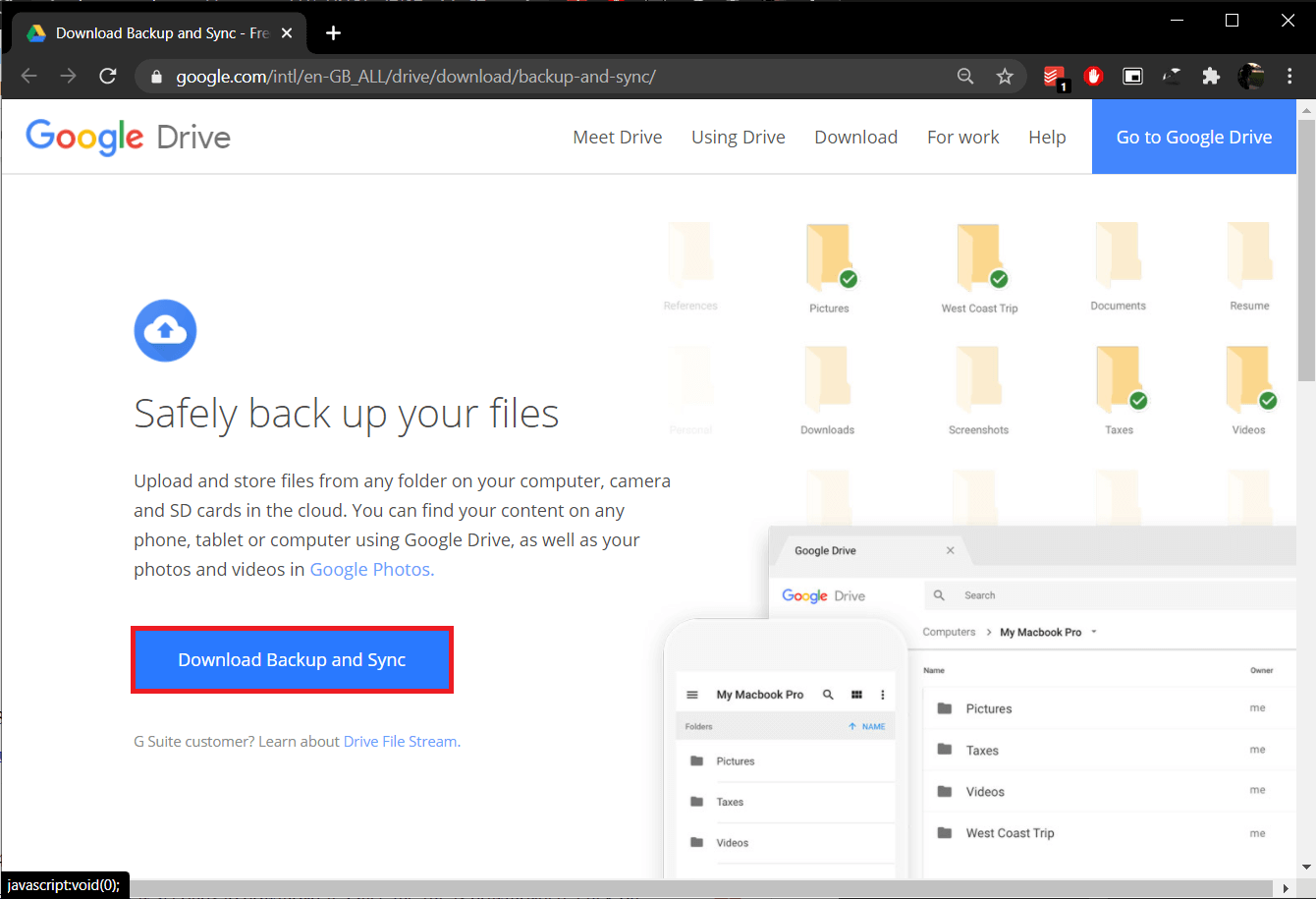Click on theDownload Backup and Sync button to start downloading | Merge Multiple Google Drive & Google Photos Accounts