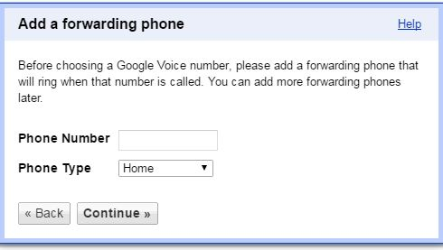 Enter to present the phone number as your Forwarding number and and tap on the Continue