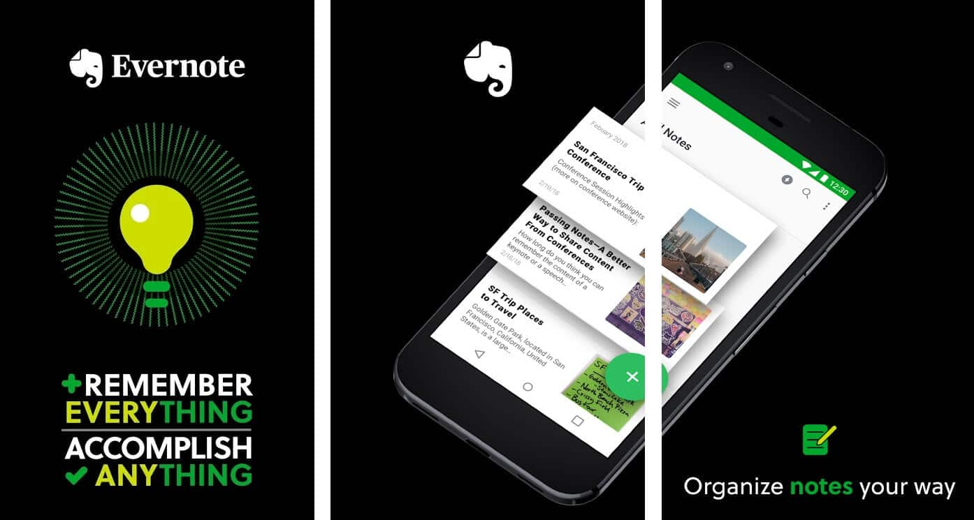 Evernote | Best Free Android Apps of 2020