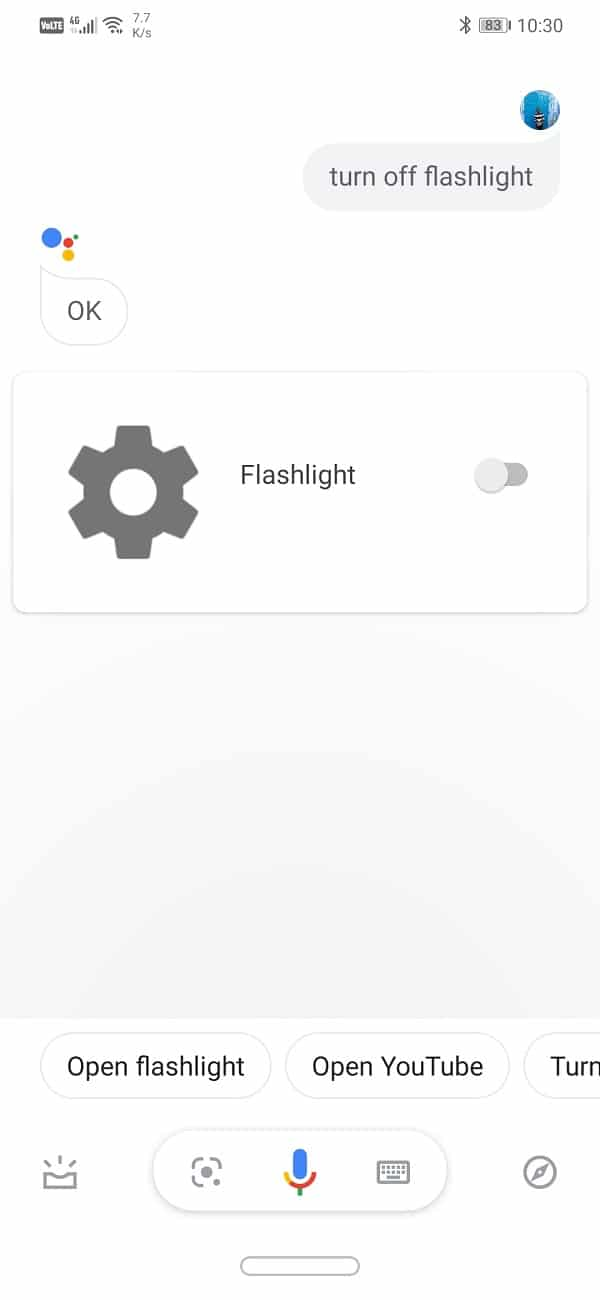 """Go ahead and say """"Switch on the Flashlight"""""""