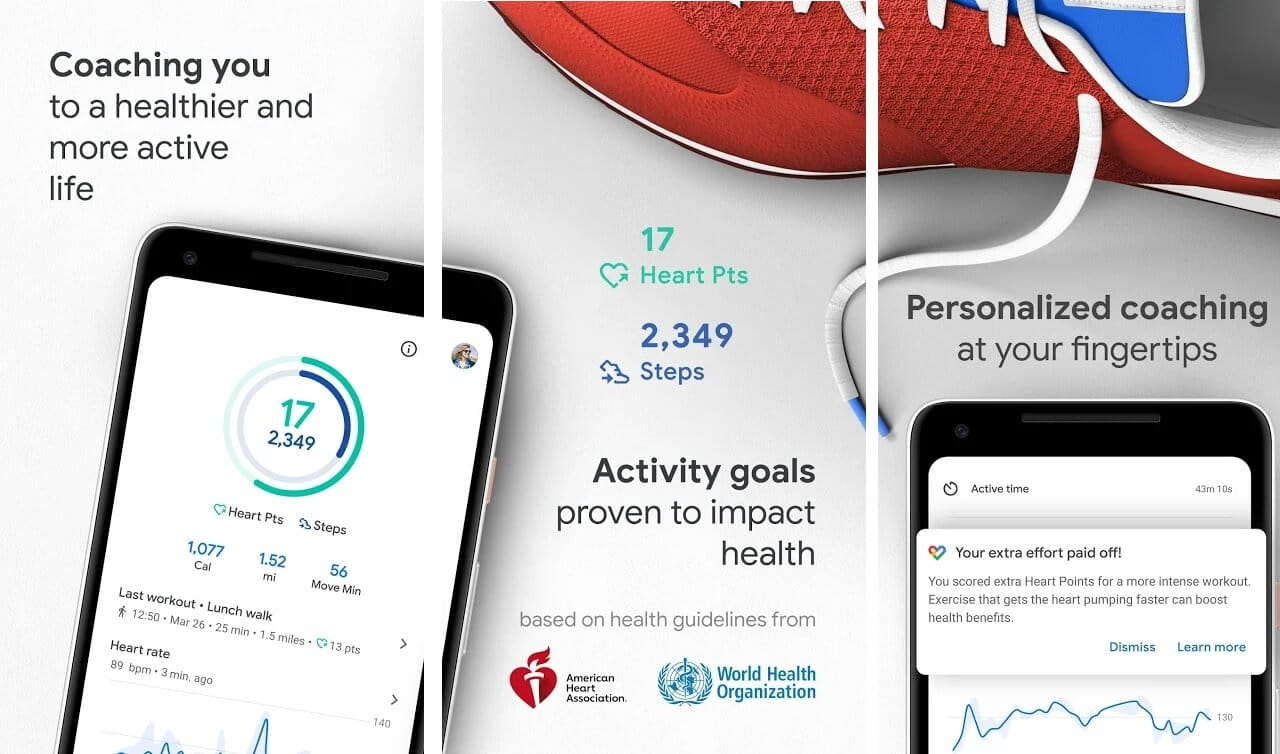 Google Fit | Best Fitness and Workout Apps for Android (2020)