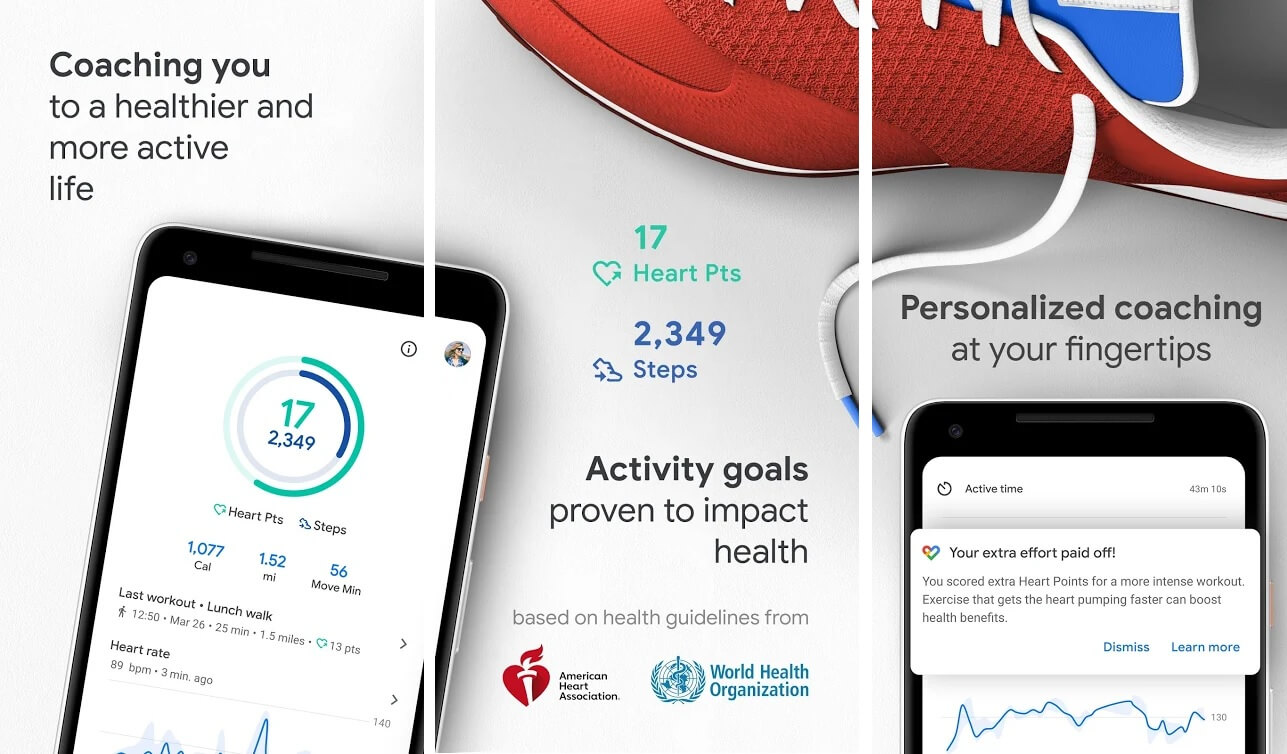 Google Fit | Best Free Android Apps of 2020