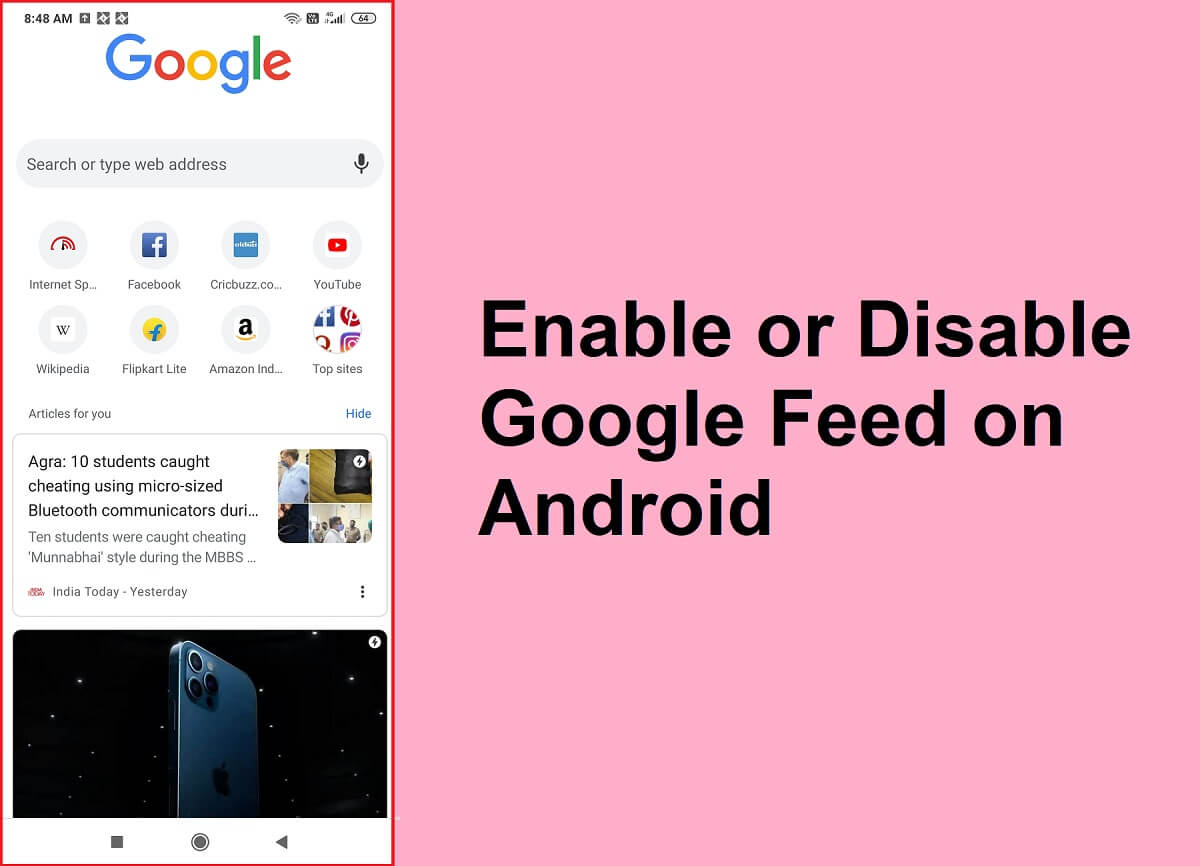 How to Enable or Disable Google Feed on Android