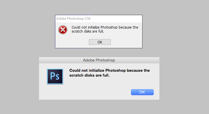 How to Fix Scratch Disks Are Full Error in Photoshop