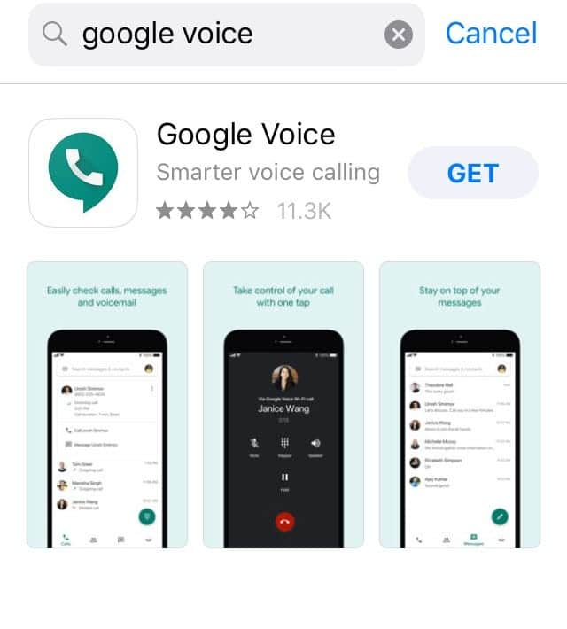 Install the Google Voice app on your device