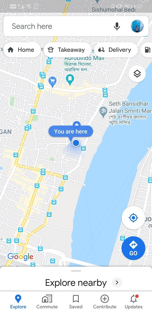 Open Google Maps on your device