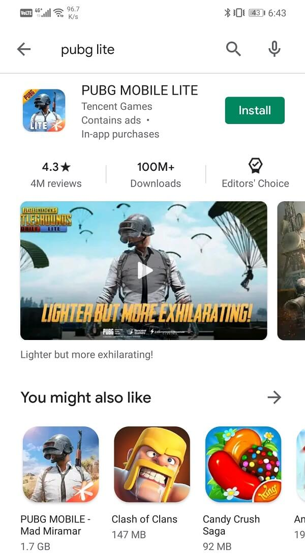 Try downloading the app from Play Store on your Android smartphone