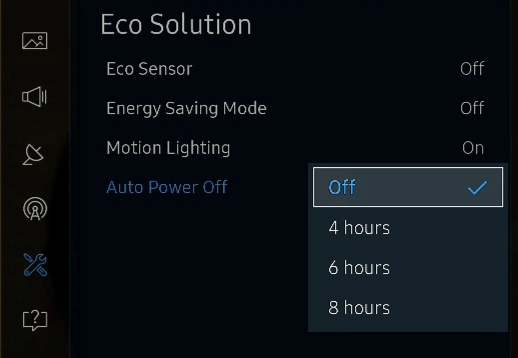 Turning Off the Power Saver samsung tv