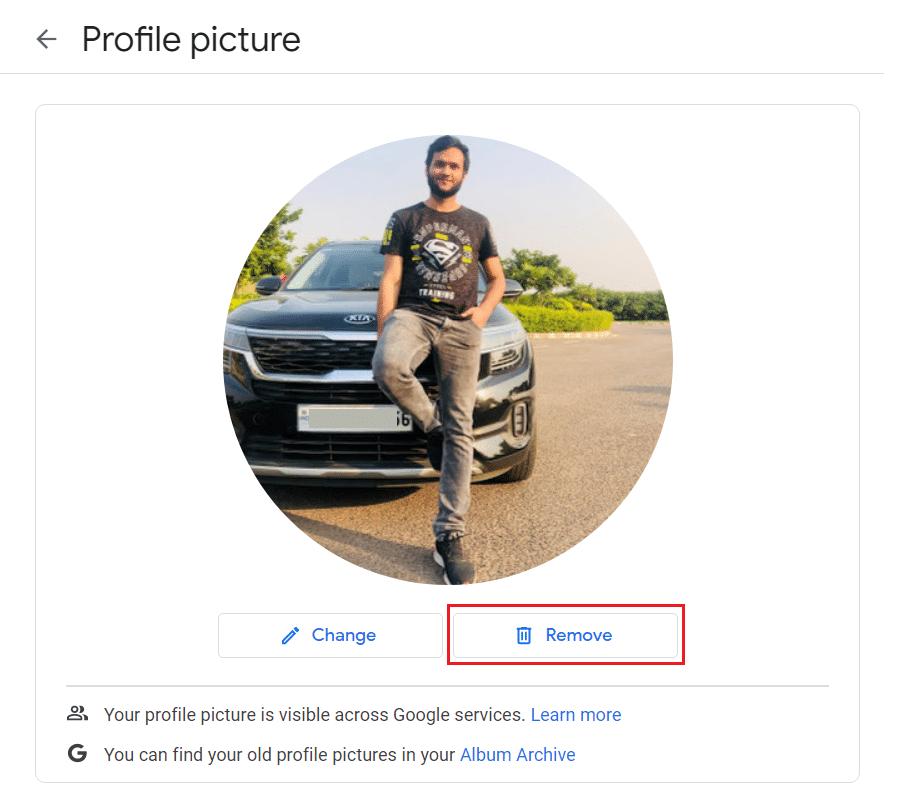 Click on the Remove button