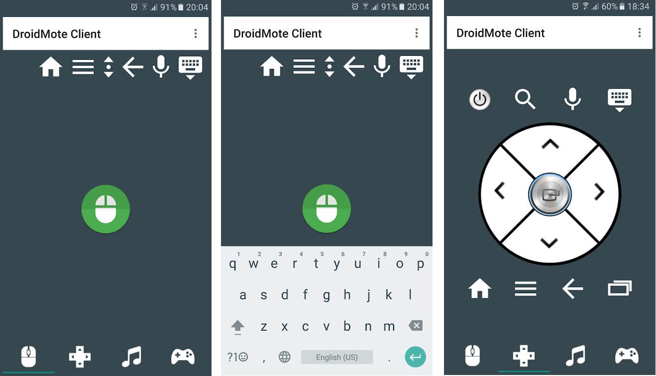 Droid Mote | Best Android Apps to Control PC from your Smartphone