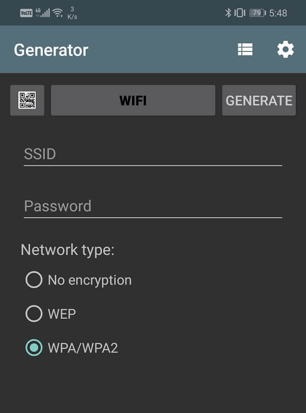 Enter your SSID, password, and select network encryption type   Share Wi-Fi Passwords on Android