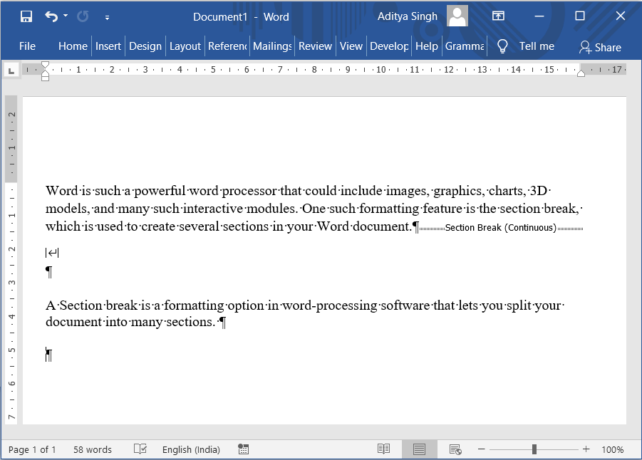 How to Delete a Section Break in Microsoft Word