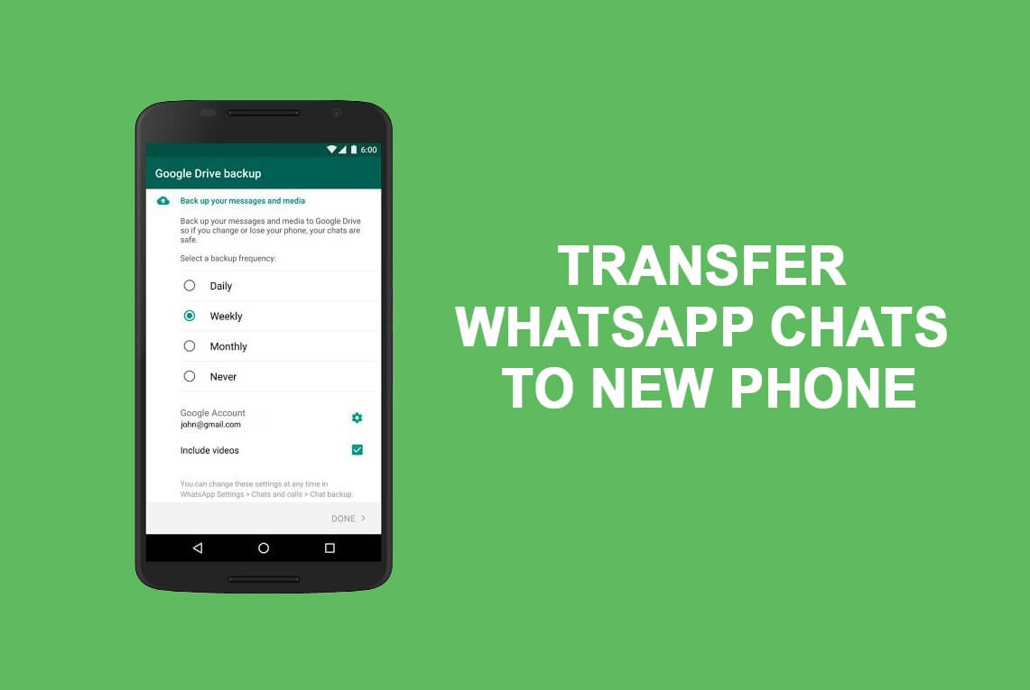 How to Transfer old WhatsApp chats to your new Phone