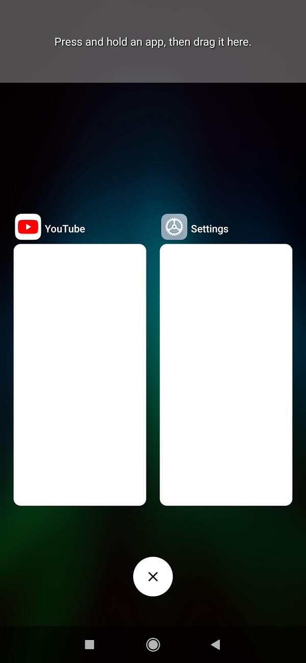 Now press & hold the app which you want to use in slip screen section
