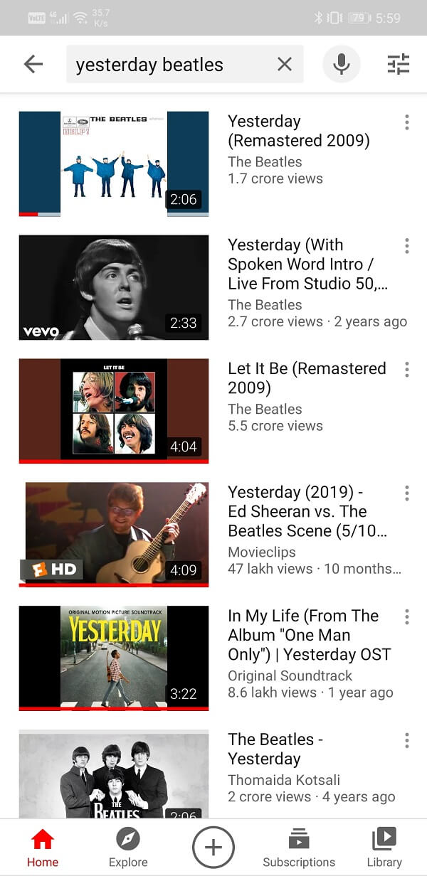 Open YouTube app   How to Play YouTube Videos in the background