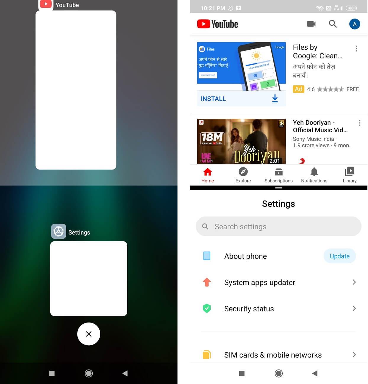 Enable Split-Screen Multitasking on Android 10
