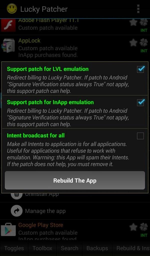 Support patch for LVL emulation_Rebuild the app