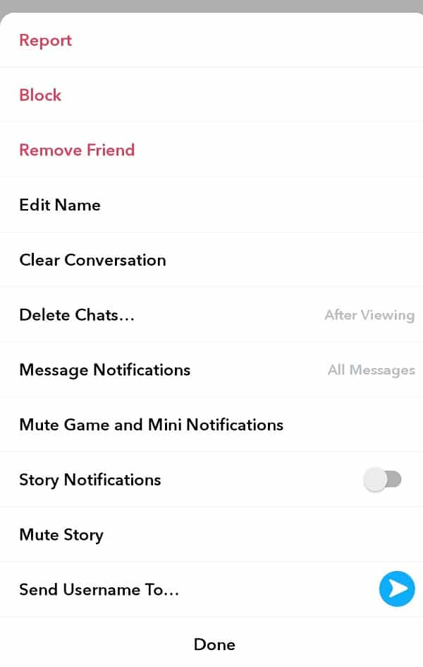 Tap on Block or Remove Friend option as per your choice | How to Block (or Delete) Someone on Snapchat