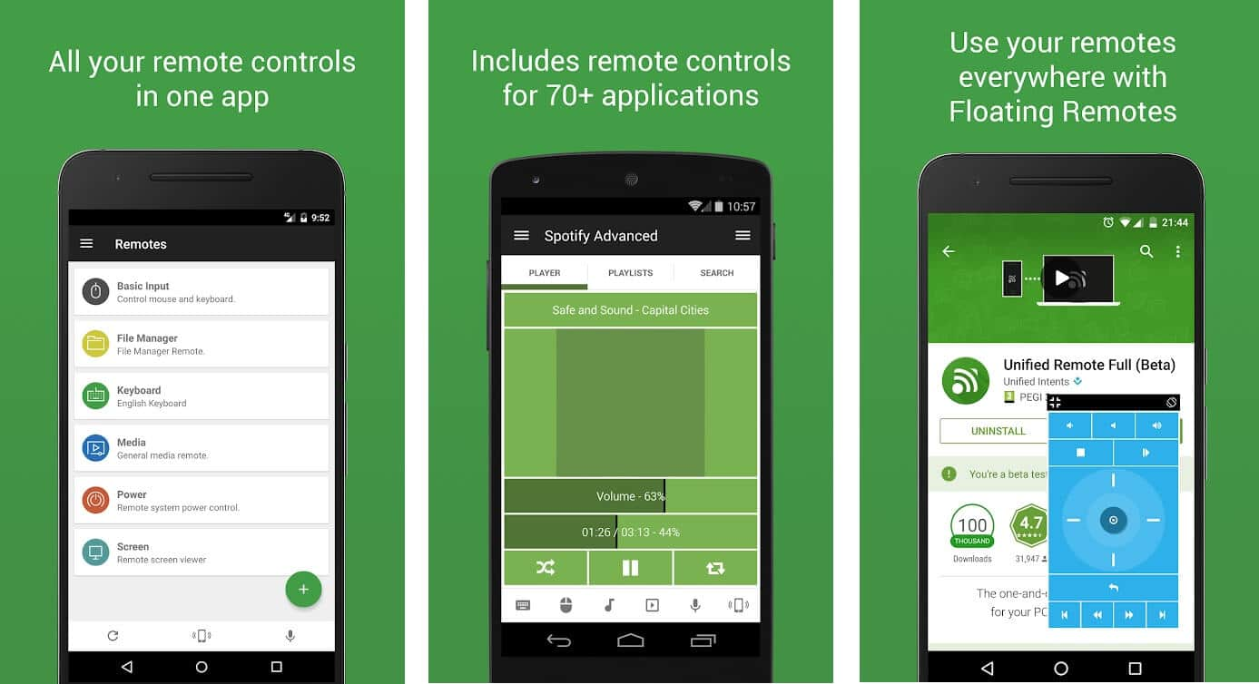 Unified Remote | Best Android Apps to Control PC from your Smartphone