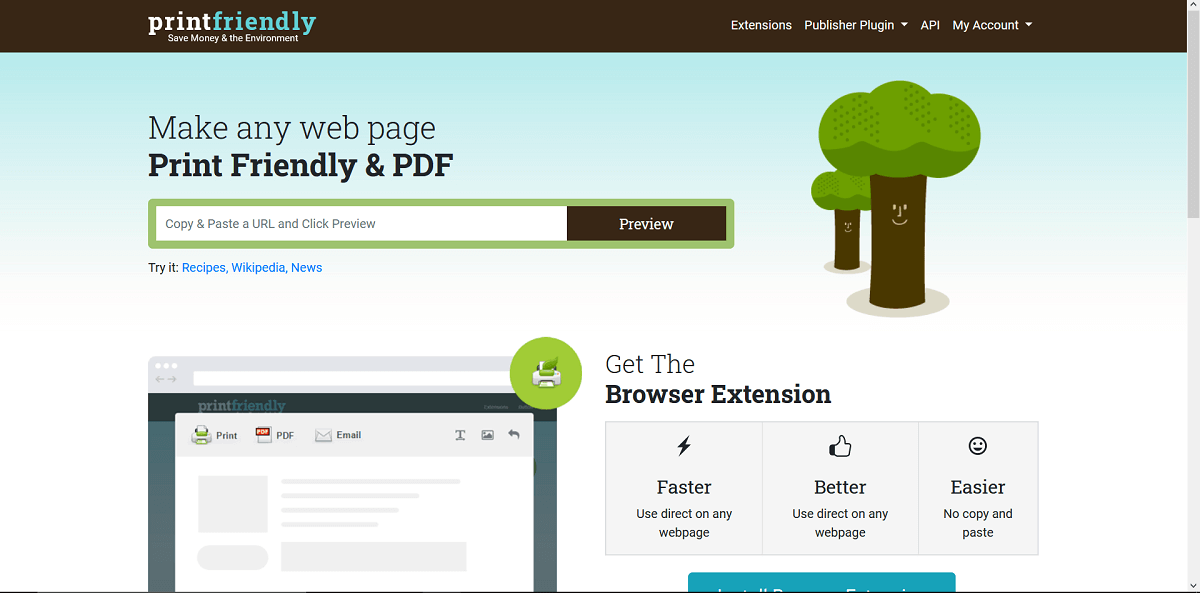 Visit the Printfriendly You can search for it on your browser search engine