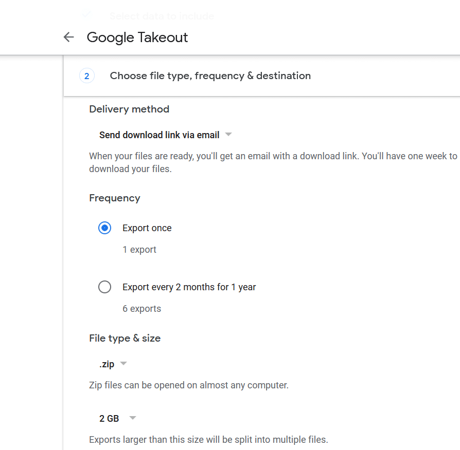 Download All of Your Google Account Data Using Takeout