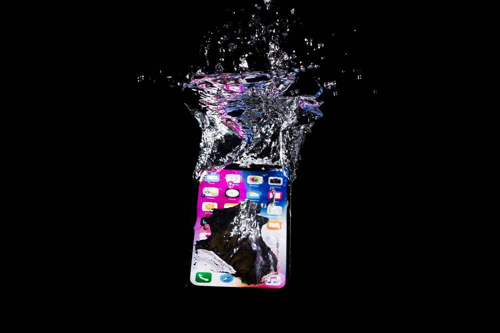Why is dropping the phone in the water so dangerous