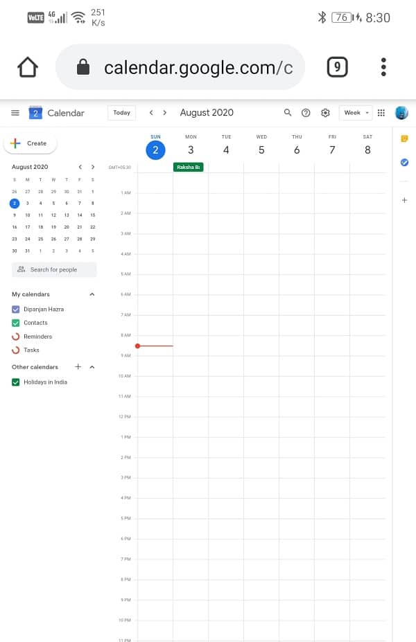Able to use all the features and services of Google Calendar