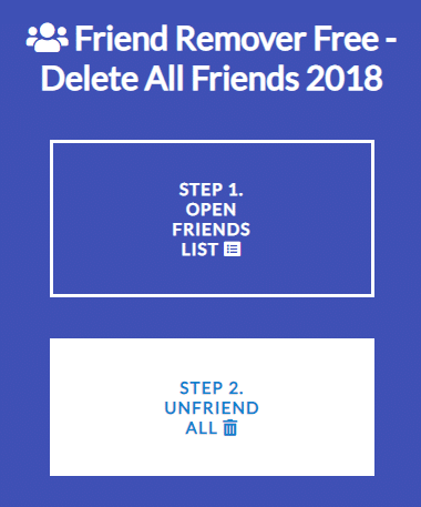 """Click on the second button that states – """"Step 2: Unfriend All."""""""