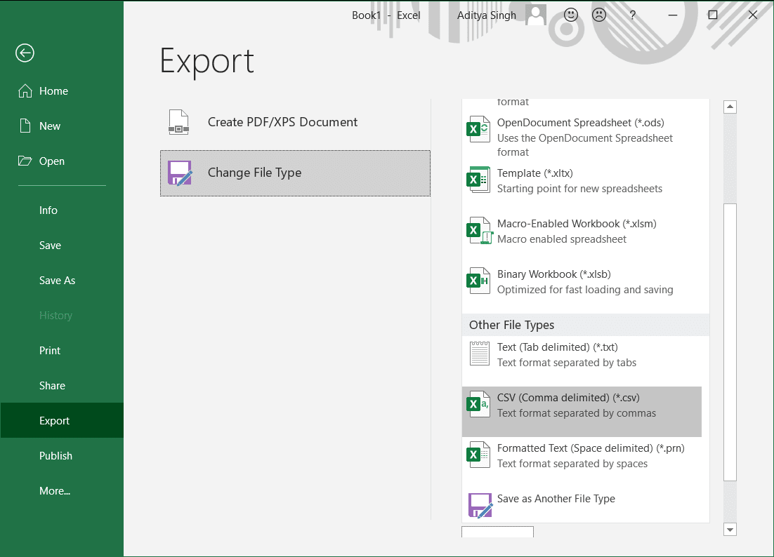 Convert Your Excel File to CSV