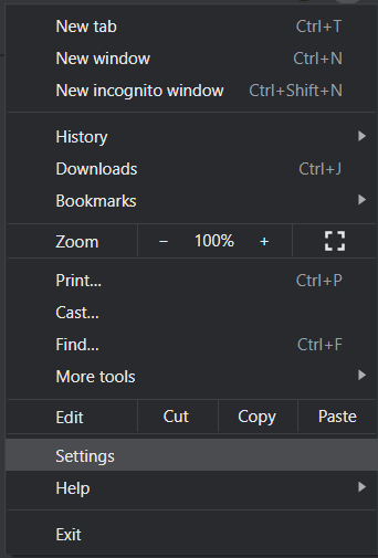 Go to the Settings option and then Advanced Settings | Fix Mouse Cursor Disappearing in Google Chrome