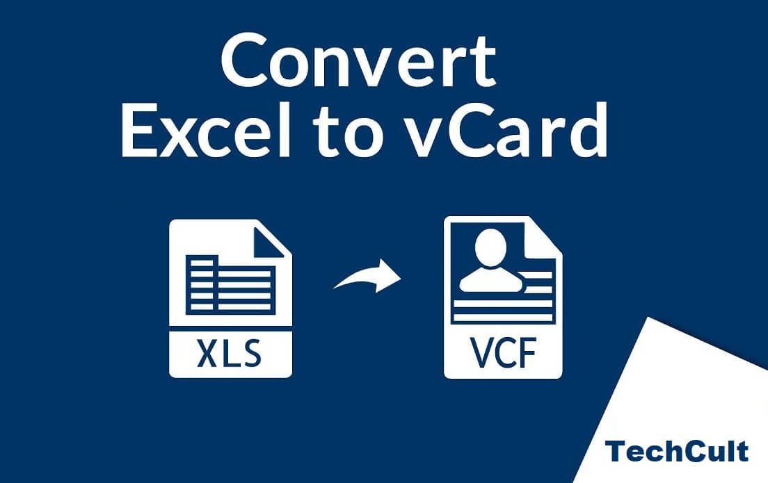 How to Convert Excel (.xls) file to vCard (.vcf) File