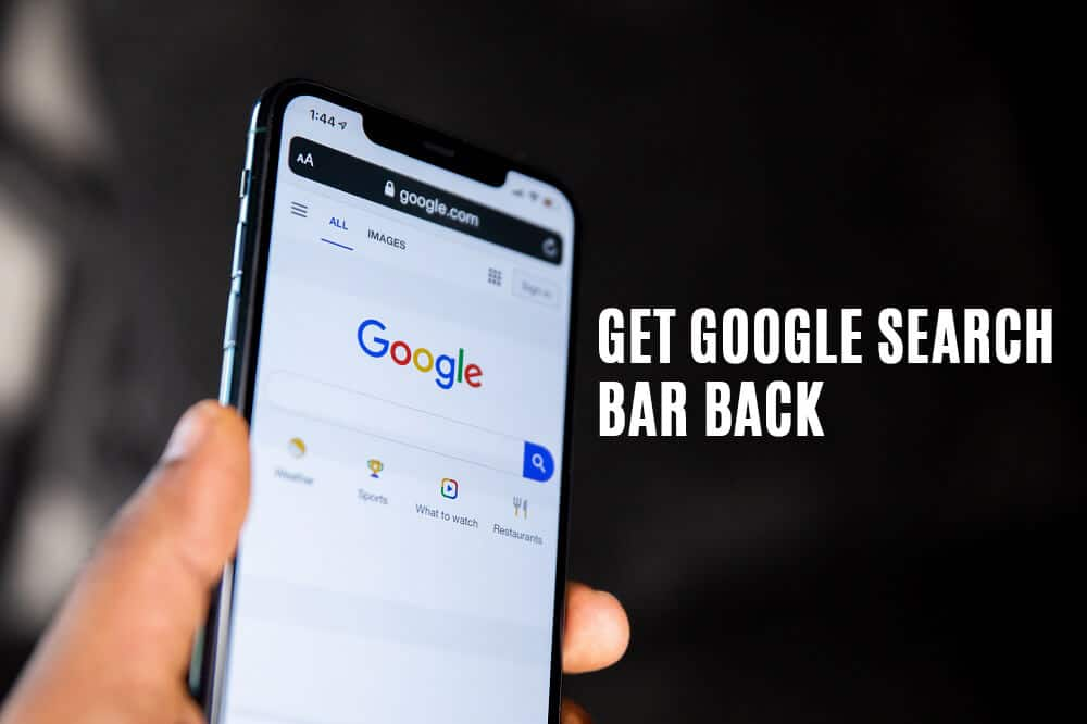 How to Get Google Search Bar back on Android Home Screen