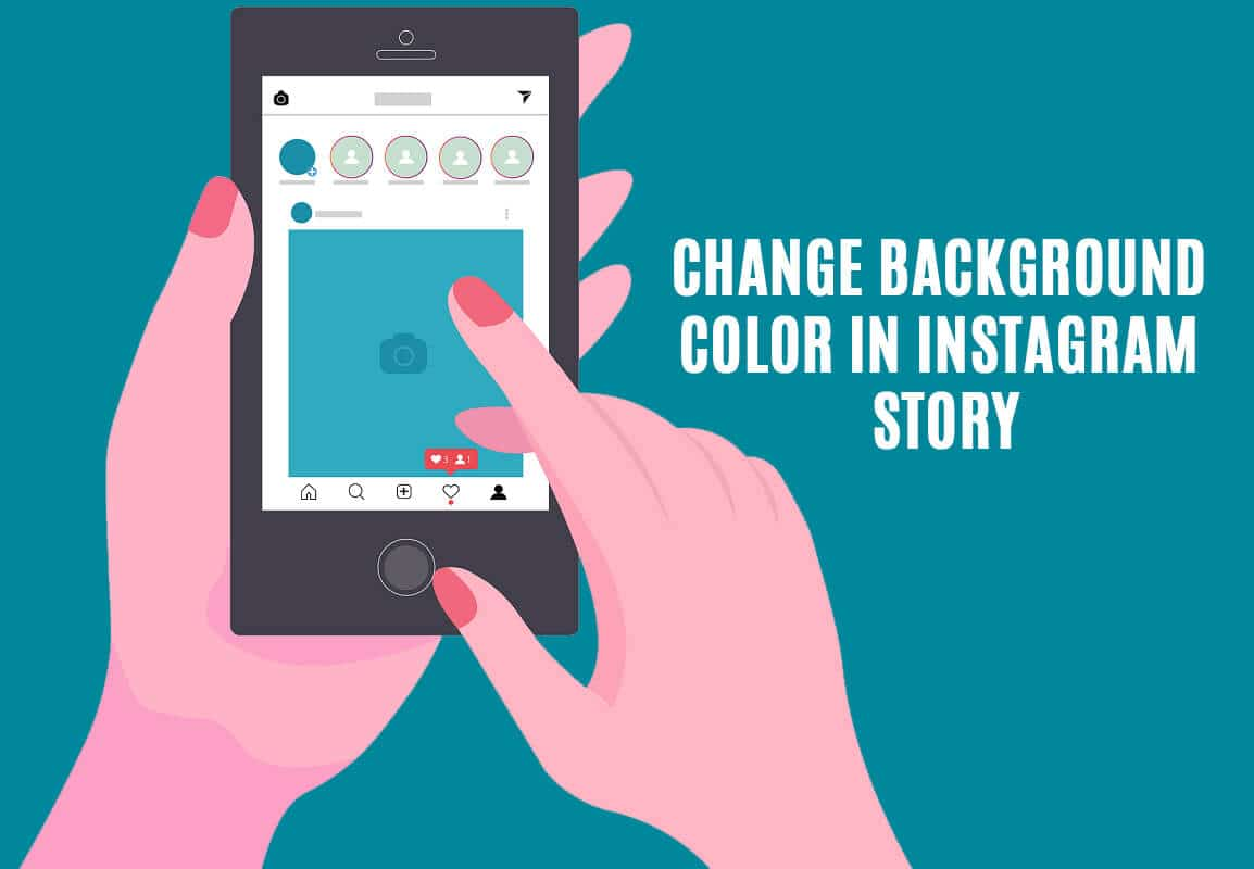 How to change the Background Color in your Instagram Story (2021)