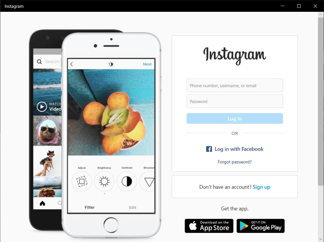 Launch the Instagram app on Windows 10