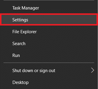 Open Settings from the power user menu