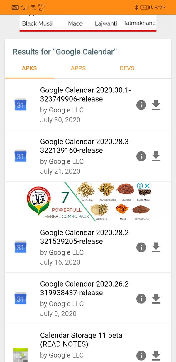 Search for Google Calendar   Fix Google Calendar Not Working on Android