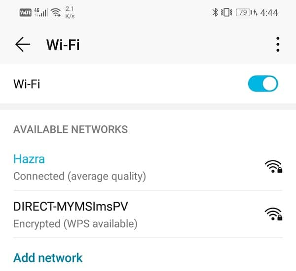 See all the available Wi-Fi networks