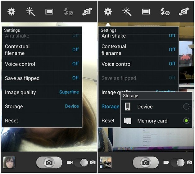 Select the Memory card option and you are all set | Save Photos To SD Card On Android Phone