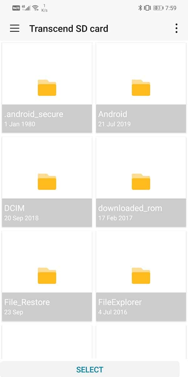 Tap on the SD card option and then select a folder | Save Photos To SD Card On Android Phone