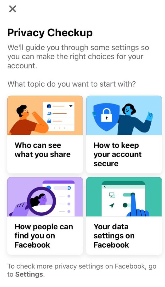 Facebook lets you change the security settings for a number of things, from who can see your posts and friends list to how people find you.