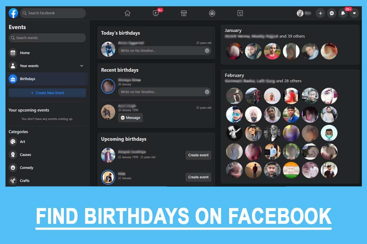 Find Birthdays On Facebook