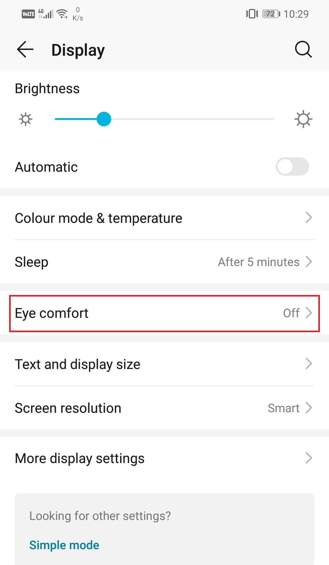 Here, you will find the Eye Comfort option. Tap on it. | How to activate the blue light filter on Android